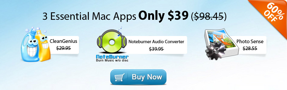 Mac OS X bundle sales with 3 apps: CleanGenius, Photo Sense and