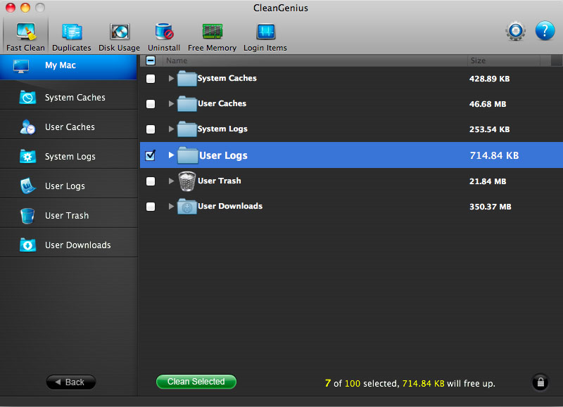 Free cleanup software for Mac OS X - EaseUS CleanGenius