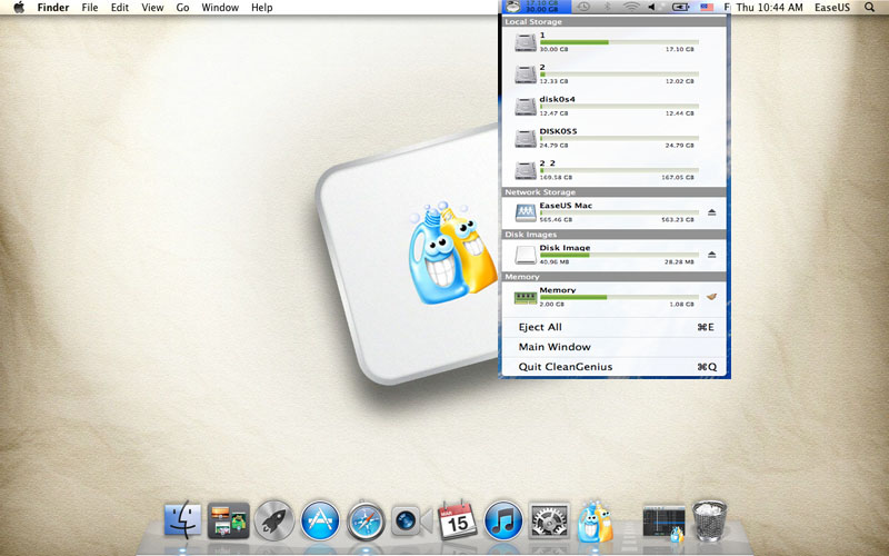 Mac disk ejector software - EaseUS CleanGenius